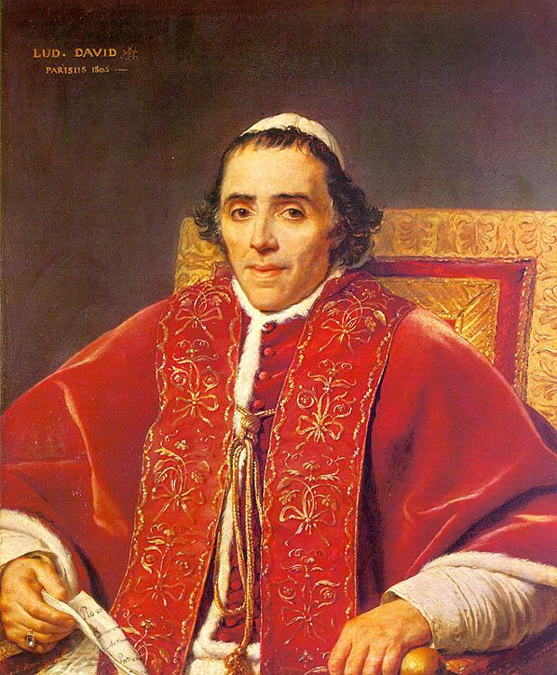 Jacques-Louis  David Portrait of Pope Pius VII_2 oil painting image